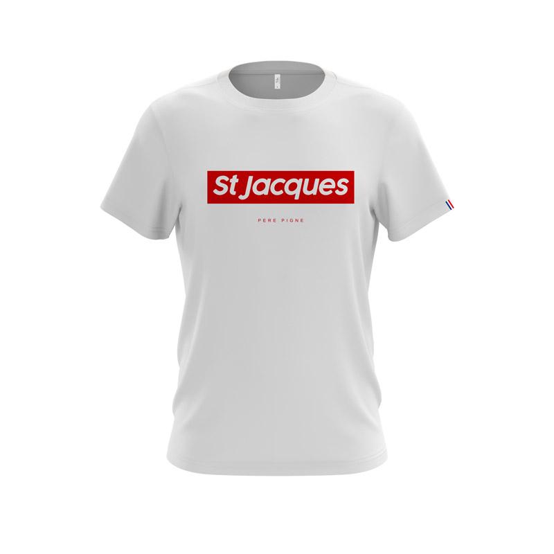 Tshirt-Blanc-Drapeau-Français--Saint-jacques