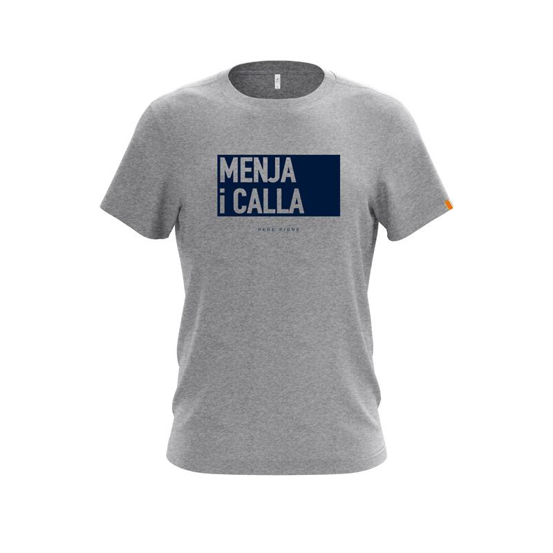 Tshirt-Gris-Drapeau-Catalan-Menja-i-calla