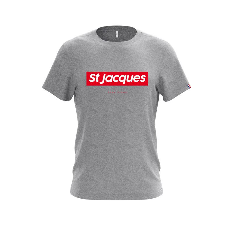 Tshirt-Gris-Drapeau-Français-Saint-Jacques