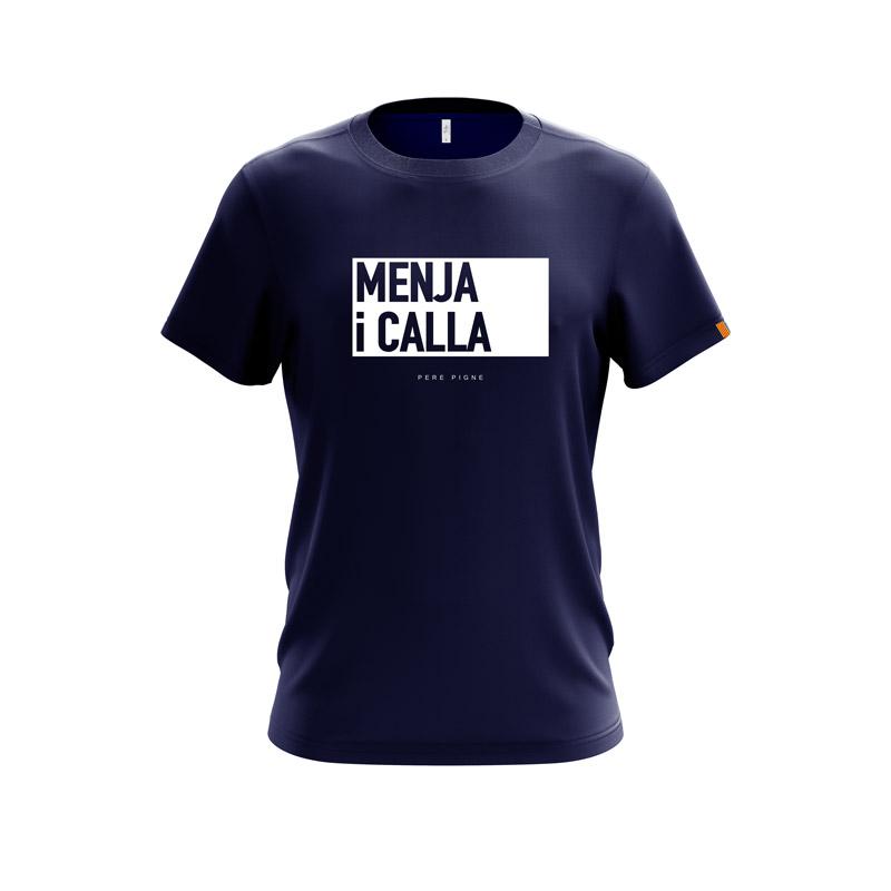 Tshirt-Navy-Drapeau-Catalan-Menja-i-calla