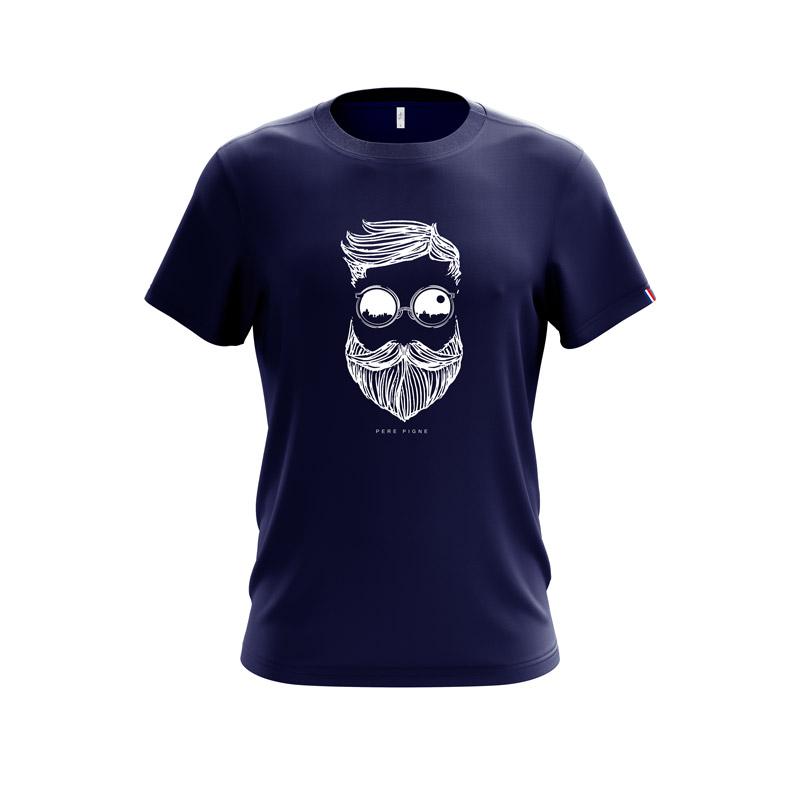 Tshirt-Navy-Drapeau-Français-Pere-Pigne