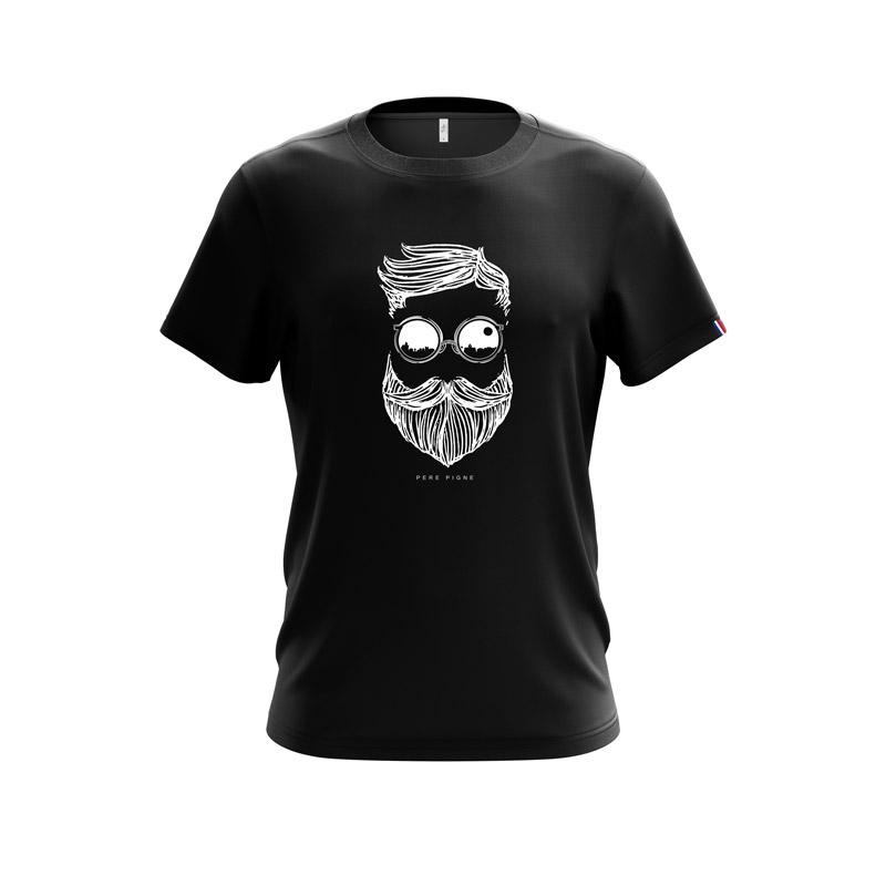 Tshirt-Noir-Drapeau-Français-Pere-Pigne