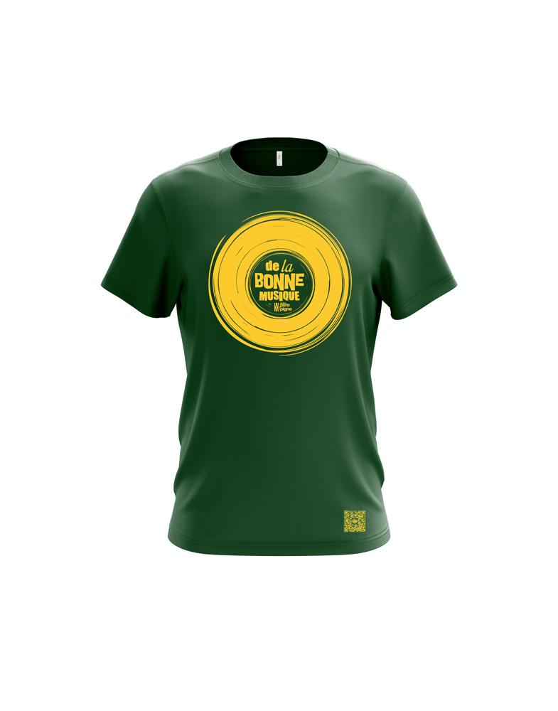 Tshirt-vert-delabonnemusique-boutique-pere-pigne