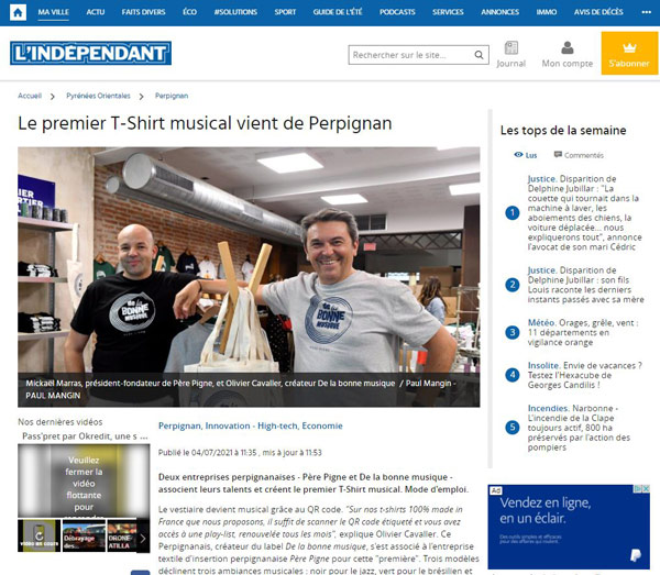 lindependant-t-shirt-musical-pere-pigne